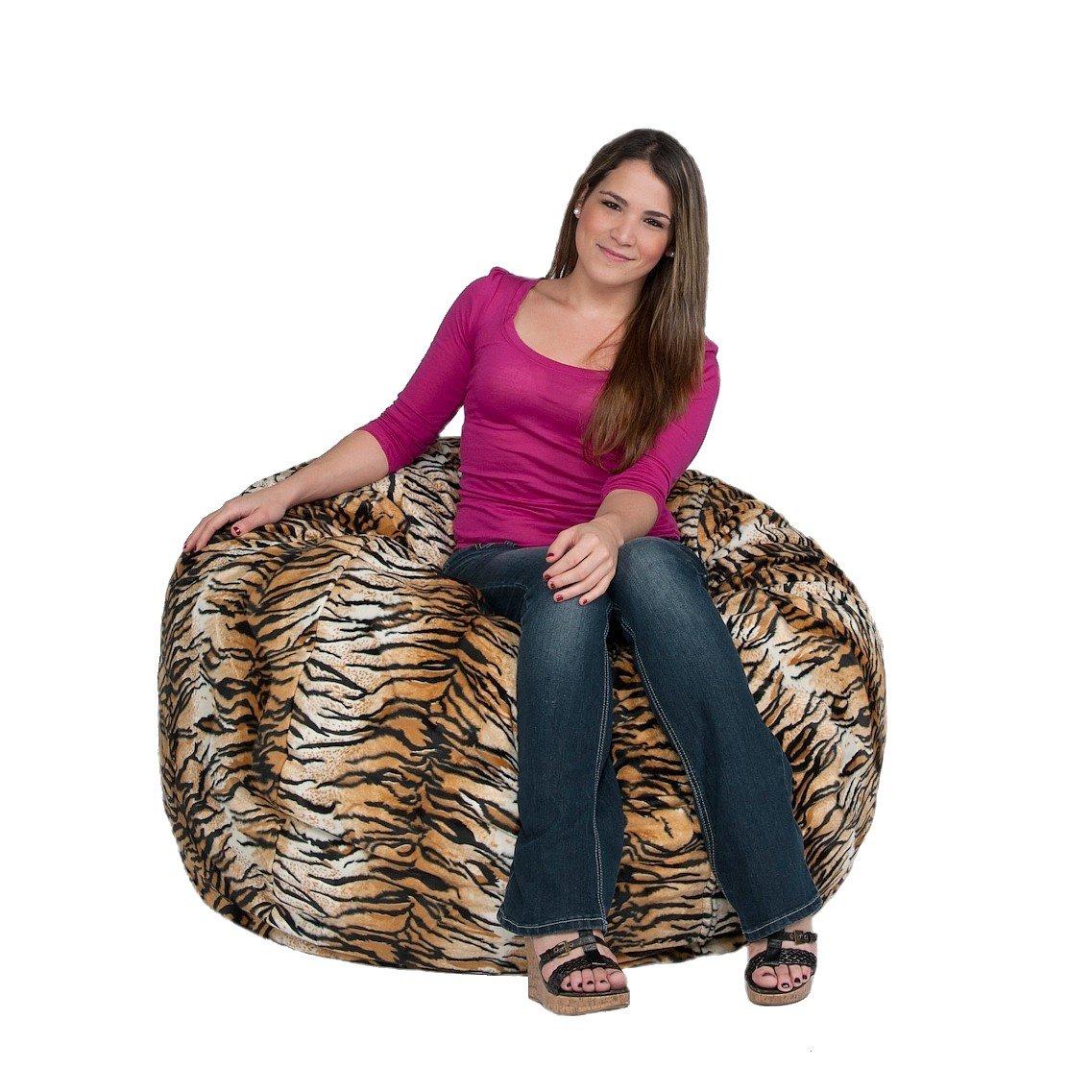Cozy Sack 3-Feet Bean Bag Chair, Medium, Tiger Print