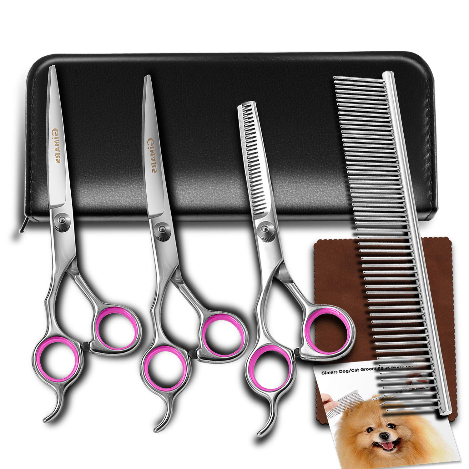 Gimars Heavy Duty Titanium Coated Stainless Steel Pet Groom