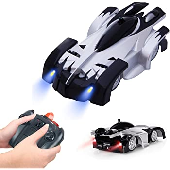 SZJJX Climbing RC Car Home Vehicle Radio Control Mini Gravity Remote Control Car Kids Electric Toy RC Vehicle Stunt Car-Black