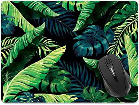 Dye Sublimation High Quality Digital Print Palm Leaves Print Mousepad Home /& Office