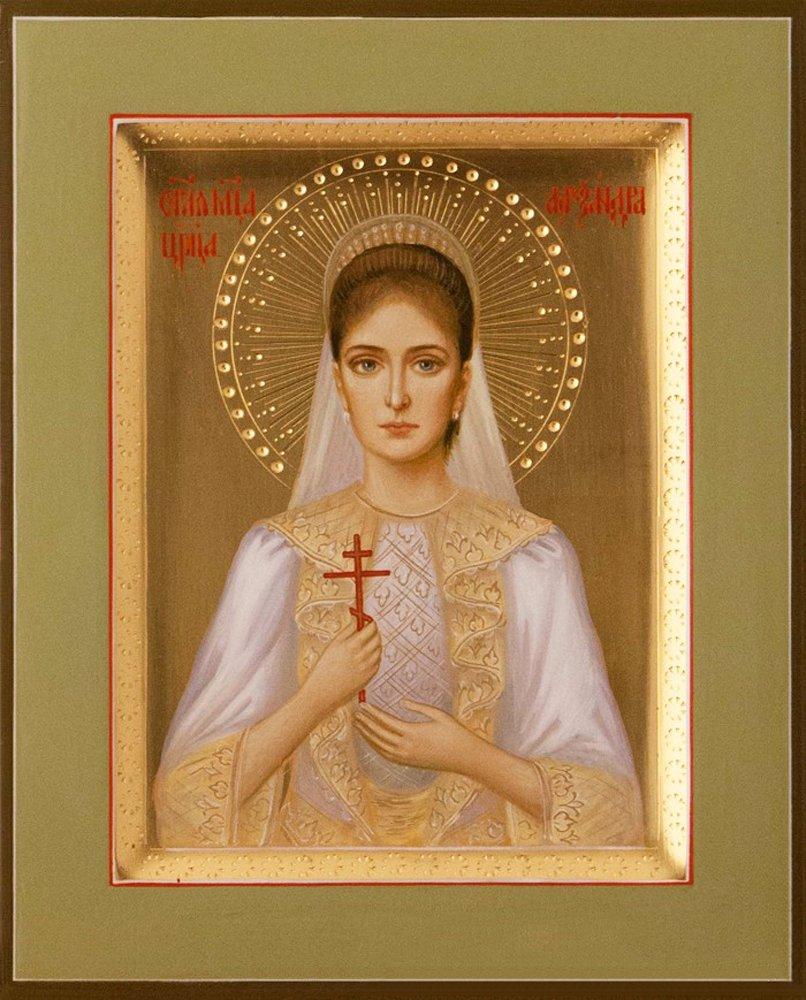 Tsarina Alexandra the Royal Martyr Traditional Panel Russian Orthodox icon