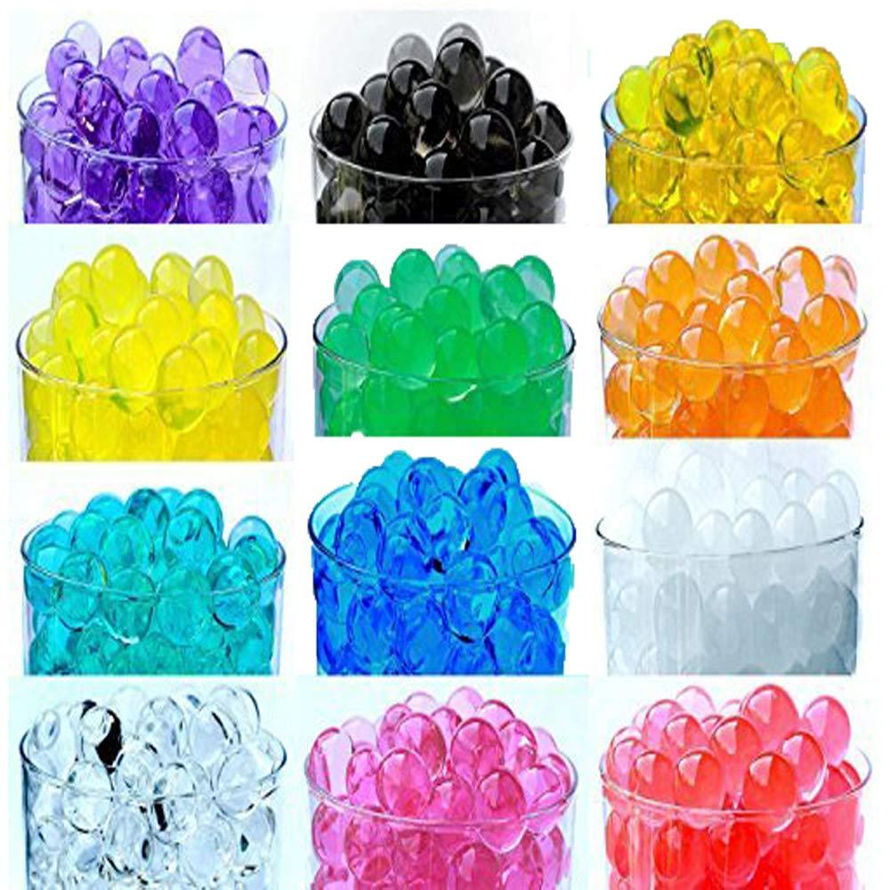 5 grams per pack make over a quart per pack 12 Pack Combo Sooper Beads Decoration Vase Filler Water Beads Gel ALMOST 3 GALLONS of BEADS TOTAL 12 Colors Furniture Decorative Vase Filler Wedding Decoration Vase Filler