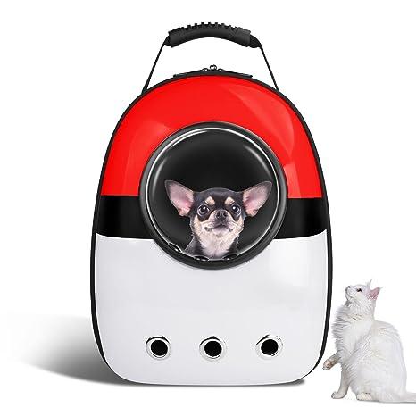 VOUMEY Mochila Portátil de Viaje para Mascotas para Gatos/Pequeños Perros Medianos/Mascotas Cápsula