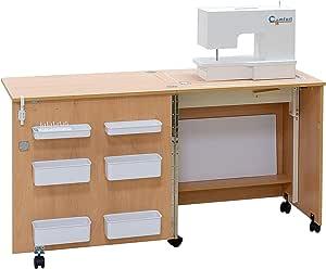 Comfort 1 | Mesa para máquina de coser | (Premium White, XL (Air ...