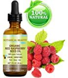 "RED RASPBERRY SEED OIL ORGANIC. 100% Pure / Natural / Undiluted / Virgin / Unrefined Cold Pressed Carrier Oil. 1 Fl.oz.-30 ml. For Skin, Hair, Lip and Nail Care. ""One of the highest anti-oxidant, rich in vitamin A and E, Omega 3, 6 and 9 Essential Fatty Acids"". by Botanical Beauty"
