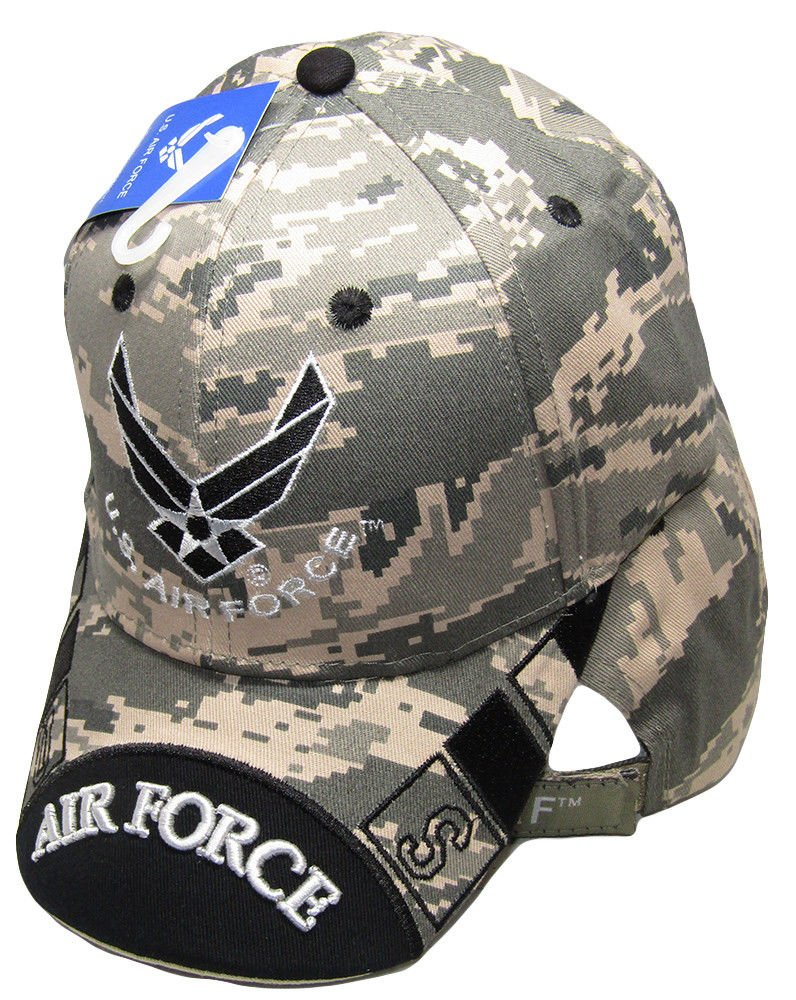 da72bf42c2a Amazon.com   K s Novelties Air Force ACU Camouflage Camo Black USAF Wings Embroidered  Cap Hat   Garden   Outdoor