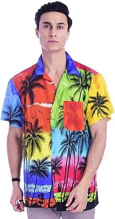 Virgin Crafts - Camisa hawaiana para hombre y mujer, manga corta, playa Aloha verano