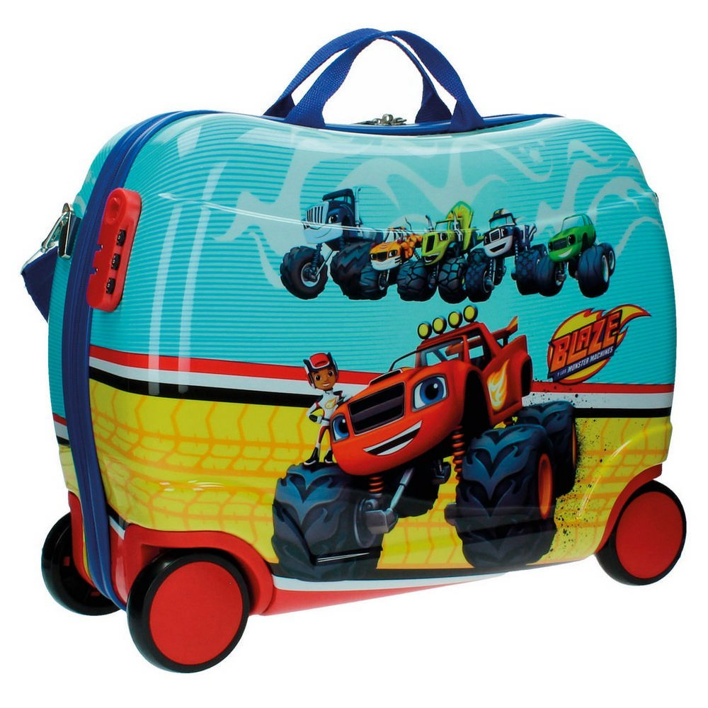 Blaze Sitzkoffer und die Monster Maschinen Kindergepäck, 34 Liter, Rot