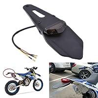 KaTur Feu arrière LED avec bavette pour moto tout terrain Rouge