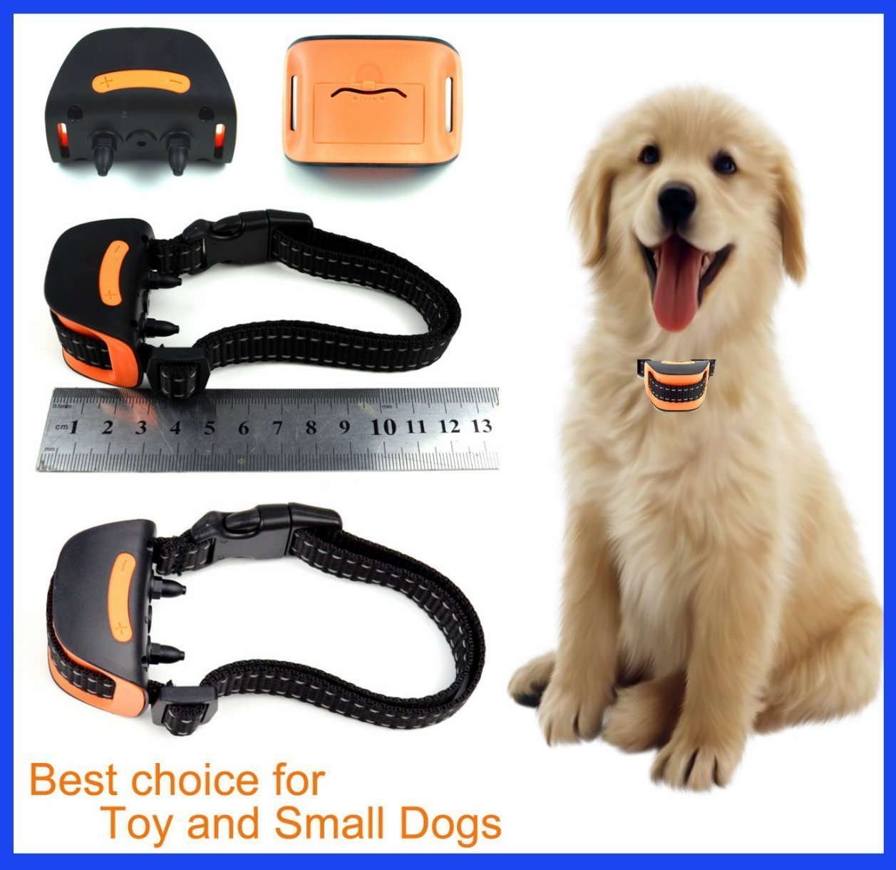 DogTech Mini 665V Vibration No Hurt Bark Dog Collar Extra Small Toy Dogs 4lbs to 14lbs Bark Training Solution 2019 Best Anti Bark Collar 100% Lifetime Product Warranty
