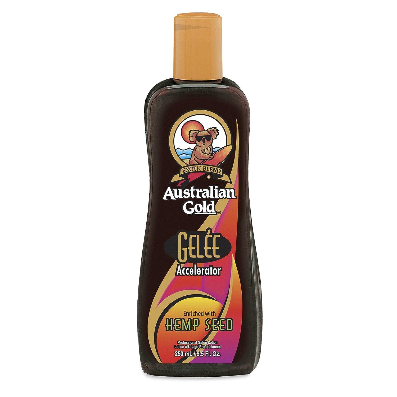 Australian Gold Gelee Dark Lozione con semi di canapa, per accelerare l'abbronzatura, da 250 ml AGGELEEH250