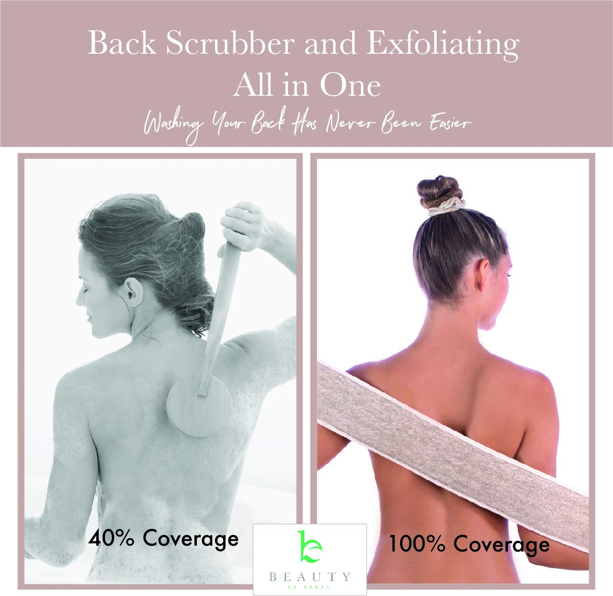 Back Scrubber for Shower - Body Exfoliator & Loofah Back Scrubber Helps Back Acne & Bacne, Back Washer for Shower, Body Scrubbers For Use In Shower to Exfoliate and Cleanse Skin : Beauty