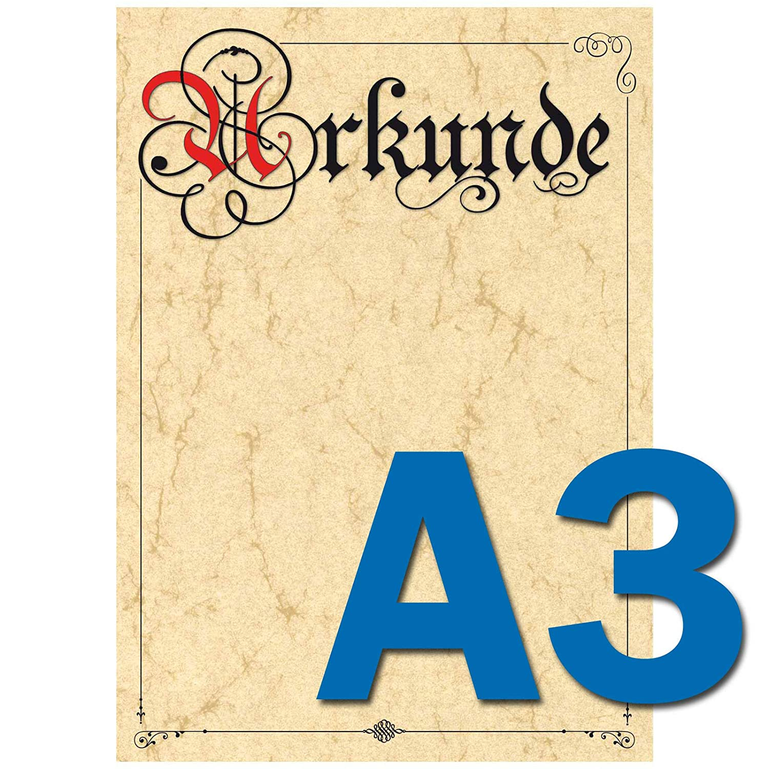 Pokalspezialist Urkunde A3 Urkundenpapier Elefantenhaut zum selbst Bedrucken 160g B07JQ3FKS2 | Nutzen Sie Materialien voll aus