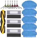 Juego de trapeador de cepillo de filtro para Ecovacs Deebot Ozmo 920 950 piezas de aspiradora, 5 trapos, 6 cepillos…
