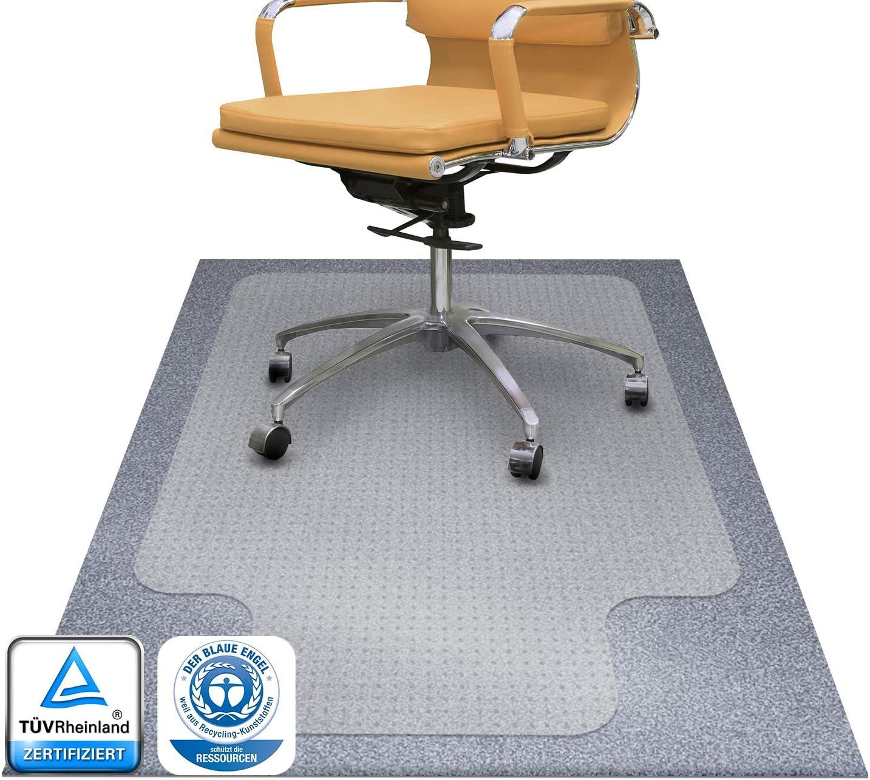 Tapis protège sol Office Marshal® antidérapant pour moquettes   qualité premium   transparent en PC plusieurs tailles au choix 116x130cm