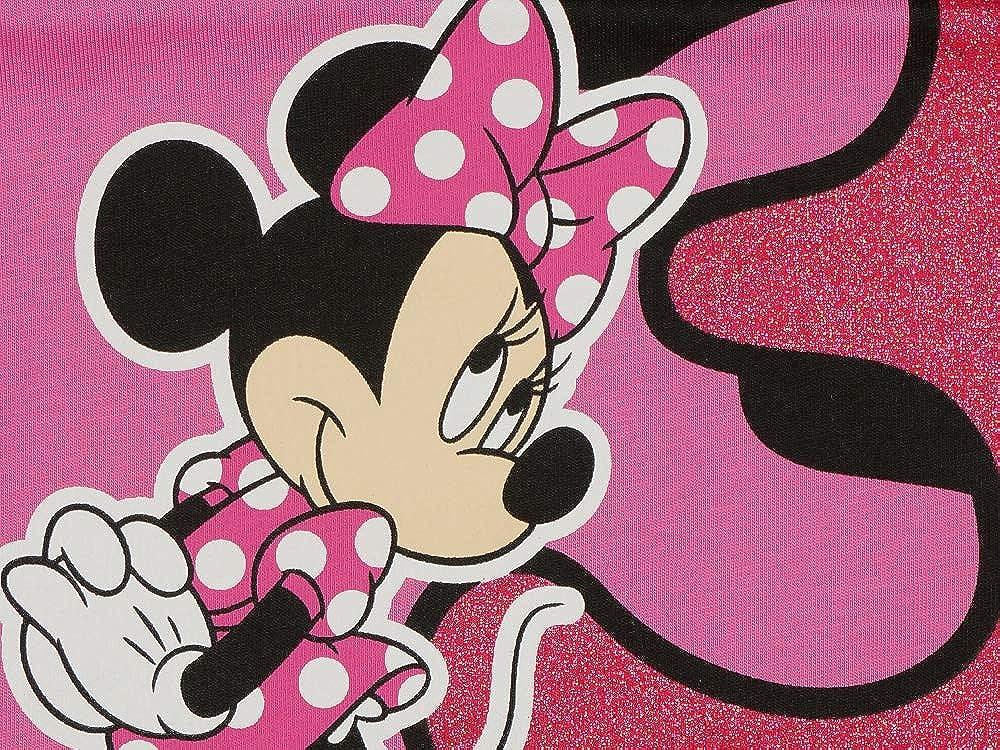 M/ädchen Baby Kinder dritter Geburtstag T-Shirt 3 Jahre Birthday Outfit GR/ÖSSE 98 104 Minnie Mouse Disney Design Glitzer Weiss oder Rosa Babyshirt Oberteil Farbe Rosa
