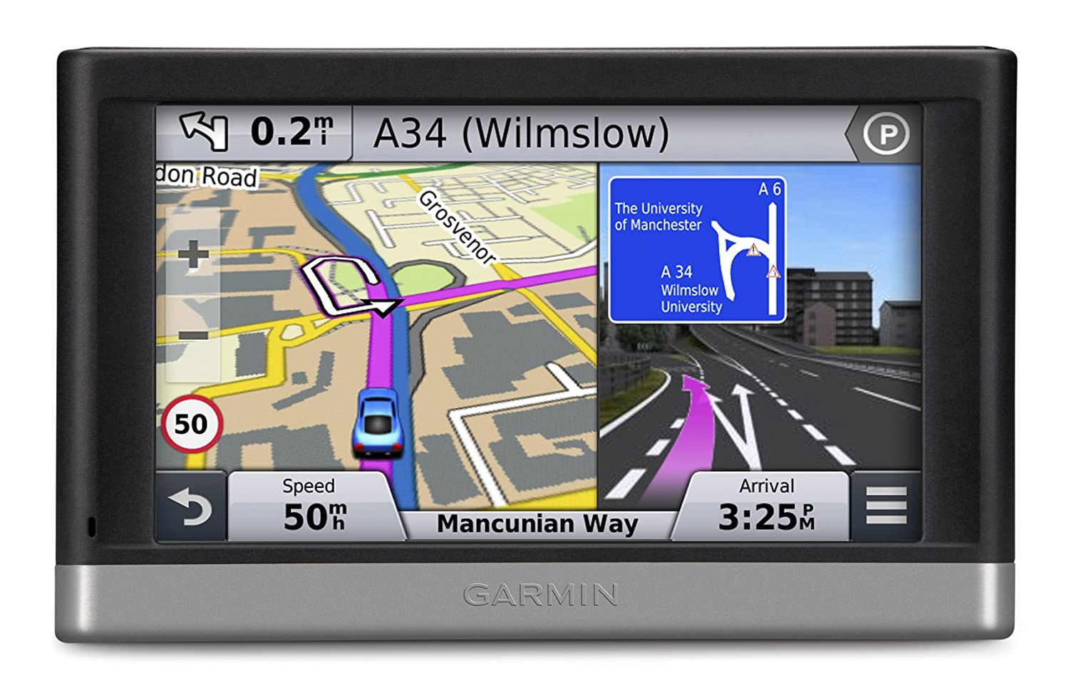 Garmin Nuvi 2597LMT 5 inch Satellite Navigation with UK and Full Europe Maps Free Lifetime Map Updates and Traffic Alerts Bluetooth