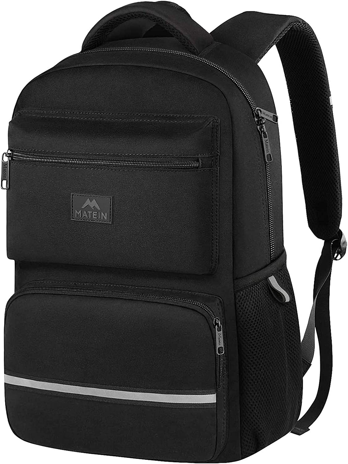 School Backpack, Lightweight Waterproof Middle School Student Laptop Backpacks for Teen, Boys and Girls, Cute Computer Bookbags for Men, Women Fits 15 Inch Laptop and Notebook, Black