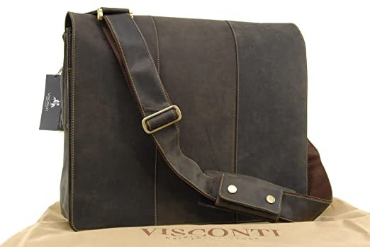 Visconti Extra Large Laptop Bag - 17 Inch - Hunter Leather - 16019 ...