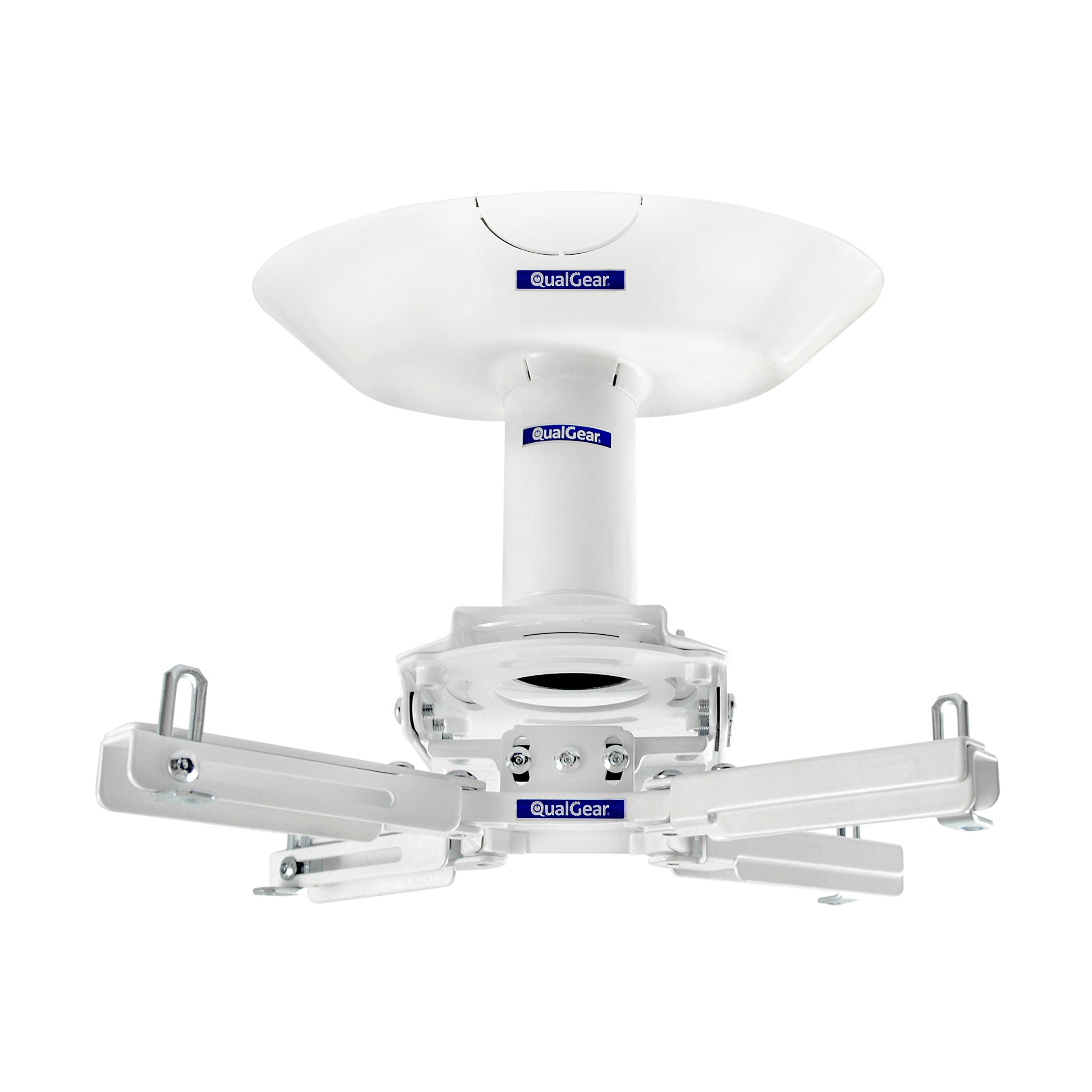 QualGear Pro-AV QG-KIT-CA-3IN-W Projector Mount Kit Accessory Single Joist Ceiling Adapter, 3'' 1.5'', White