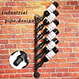 Rustic Industrial Steampunk Unidirection 6 Bottle Wine rack industrial wall decorate bottle holder Review