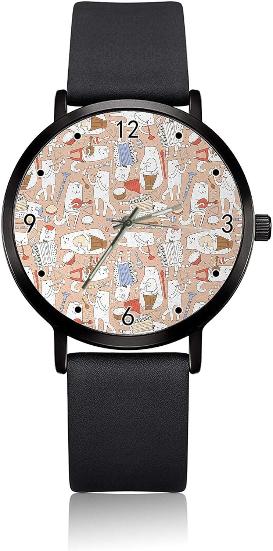 Reloj de Pulsera para Mujer con diseño de acordeón, Ultra Delgado, analógico, Movimiento de Cuarzo japonés