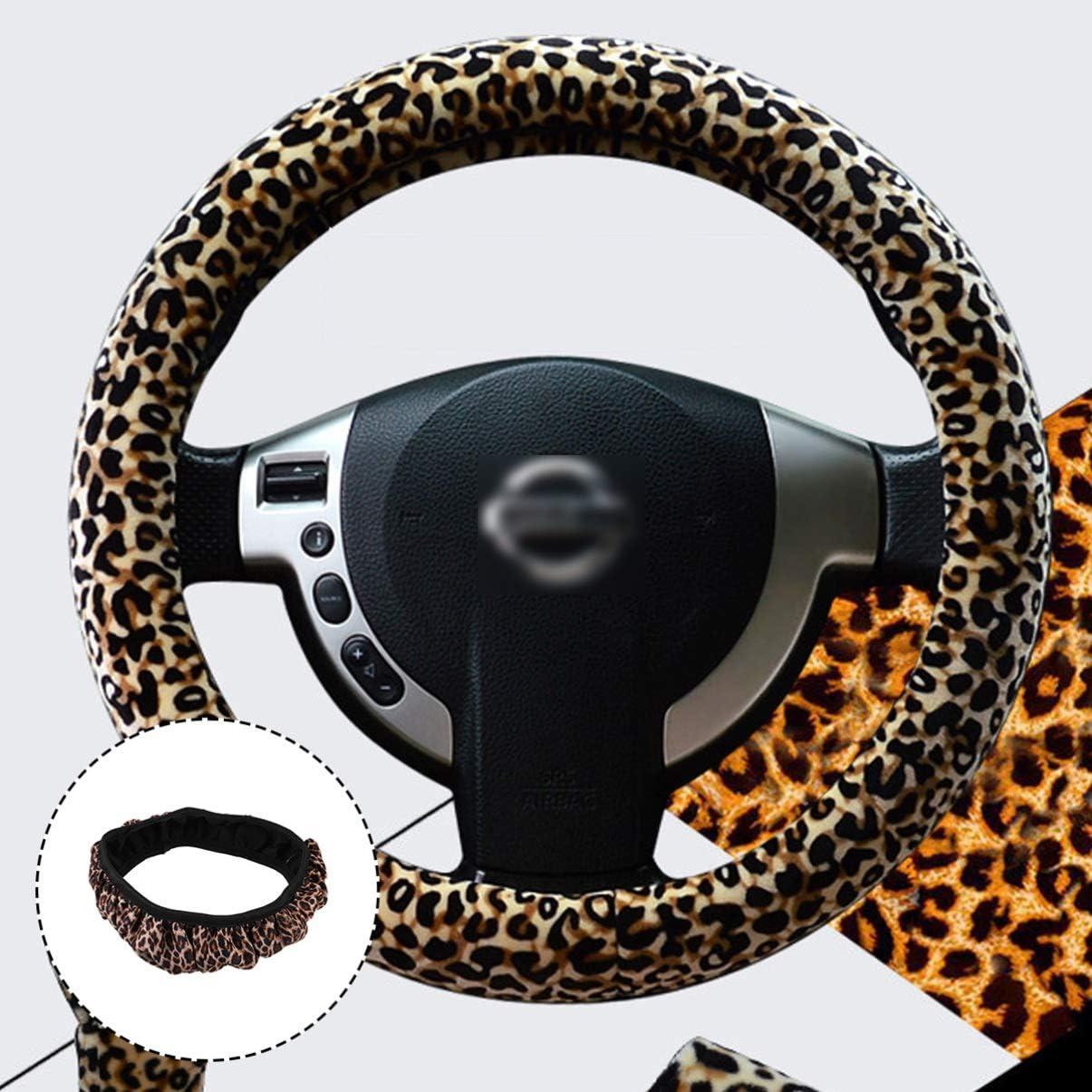 BESPORTBLE Coprivolante Coprivolante Coprivolante Decorativo Leopardato Copriruota per Auto Accessori Interni per Auto per Auto Veicolo