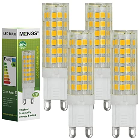 MENGS® Pack de 4 Bombilla lámpara LED 7 Watt G9, 75x 2835 SMD,