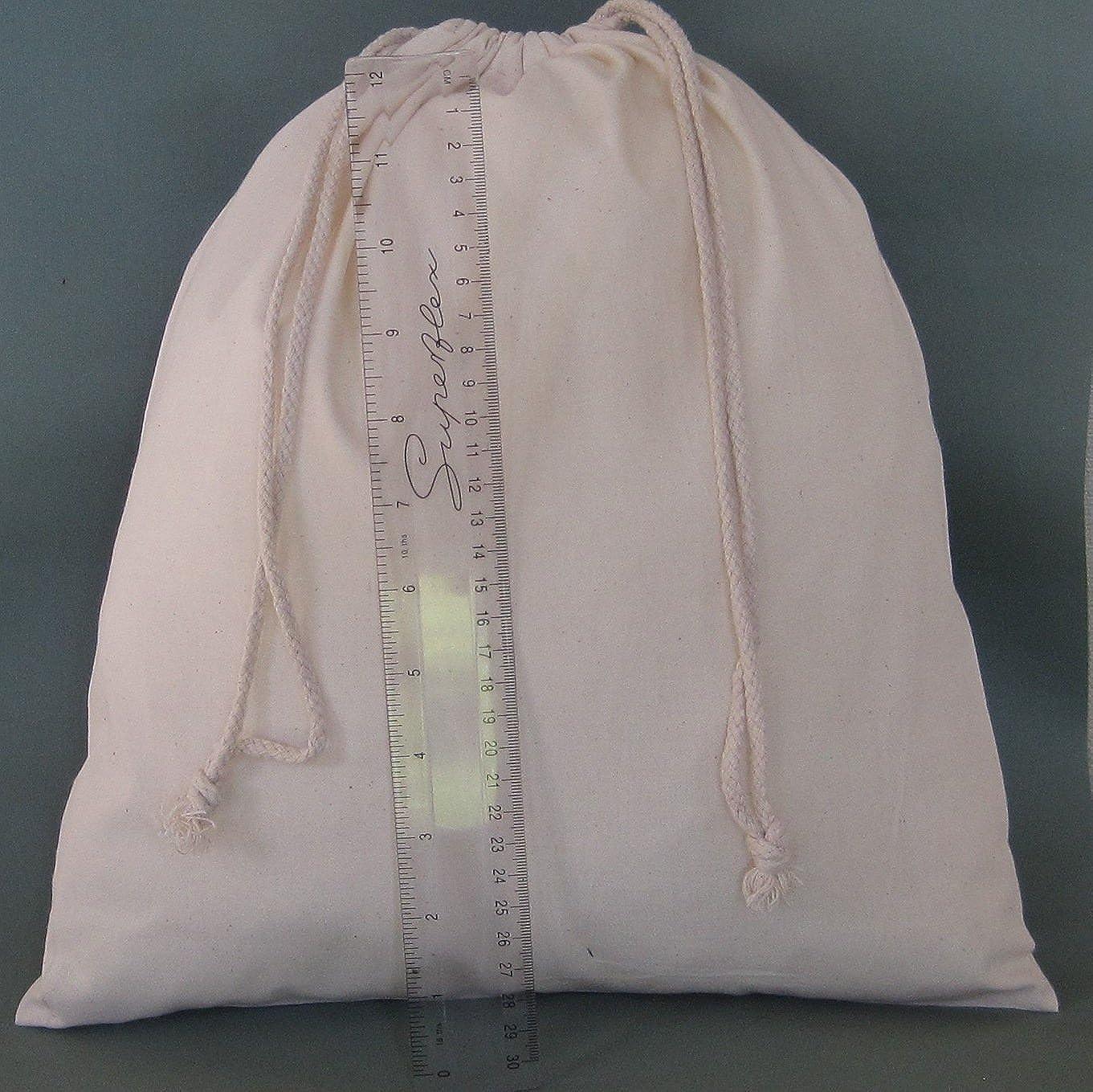 x 40 cm H Small Size 100/% Cotton 4 PACK Travel Bag Set 35 W