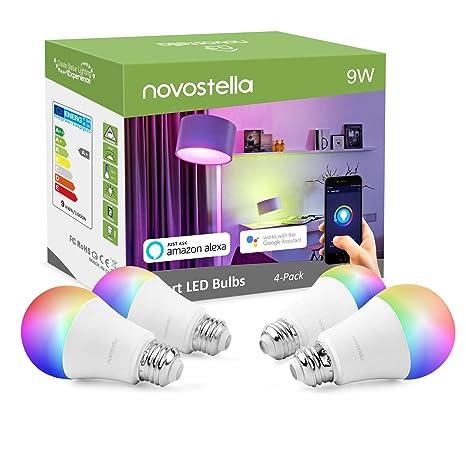 2700K-6500K Dimmbare via App Timing Funktion Ohne Hub Ben/ötig 3Pack Farbige Gl/ühbirne 900 lm Smart LED Lampe E27 9W Wifi Lampen RGBW Wlan Birne Kompatibel mit Alexa Google Home
