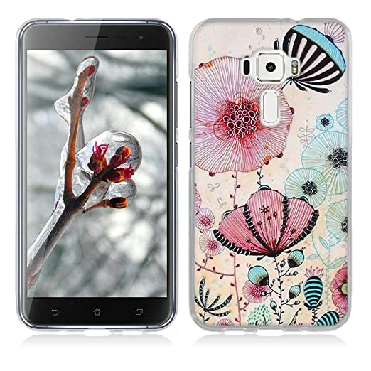 14 opinioni per Asus Zenfone 3 ZE520KL Cover, Fubaoda Estetico 3D Rilievo UltraSlim TPU Skin