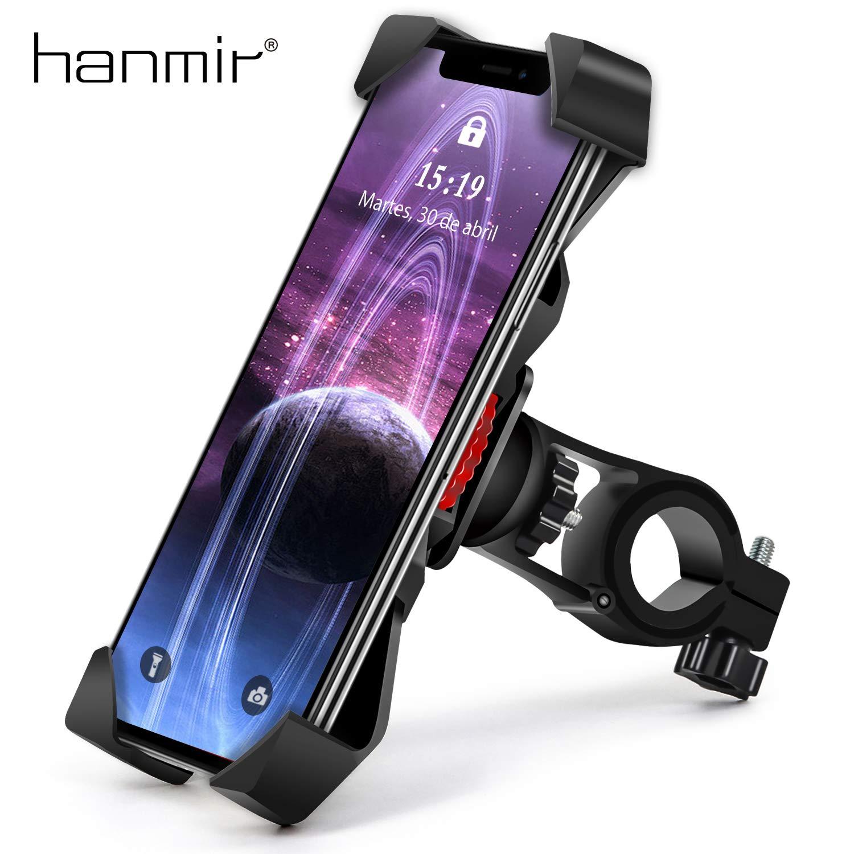 Samsung S10//S9 y Otro 3.5-6.5 M/óvil Soporte Movil Bicicleta hanmir Soporte Movil Moto Bicicleta Anti Vibraci/ón con 360/° Rotaci/ón Universal Manillar para iPhone 11 Pro MAX//XS MAX//XR