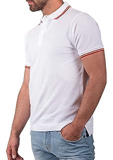 Pi2010 - Polo Hombre Celeste con Bordado Bandera de España en Pecho, Celeste, 100% algodón: Amazon.es: Ropa y accesorios