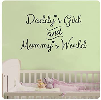 24u0026quot; Daddyu0027s Girl And Mommyu0027s World Wall Decal Sticker Art Mural Home  Décor Quote Baby