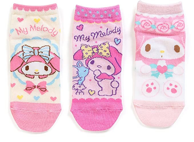 ac2ad1f6f My Melody Sanrio Kids Socks Set of 3 Japan Limited Edition -3 different  designs per