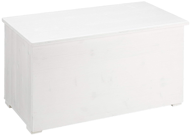Amico Legno CMI80B Cassapanca con Cerniera Interna 80, Bianco, 84x44x44 cm