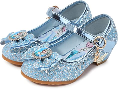 YOSICIL M/ädchen Prinzessin Schuhe Kinder ELSA Kristall Schuhe Flach Partei Festliche Schuhe Prinzessin Kost/üm Zubeh/ör Schuhe Karneval Halloween Hochzeit