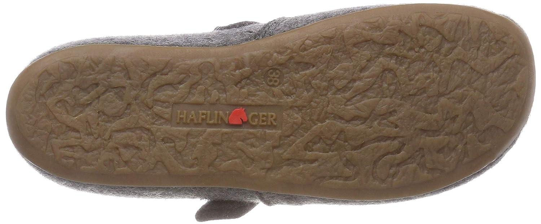 Haflinger Unisex Felt Slippers with Velcro Strap Everest Focus Anthracite