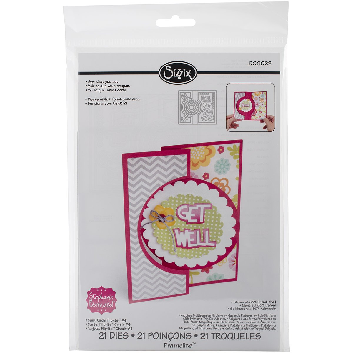 Amazon.com: Brand New Sizzix Framelits Dies By Stephanie ...