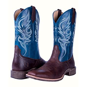 d9c4f60dc2c Noble Outfitters Western Boots Womens All Around Autumn 9 R Oak