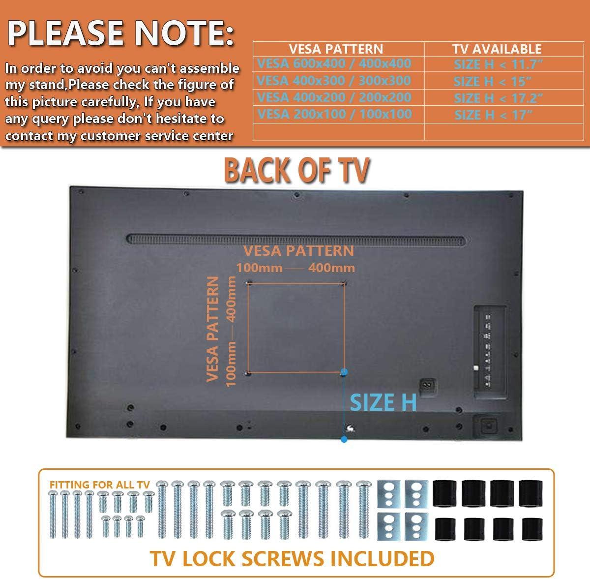 Universal Soporte Altura Ajustable para TV Base del Televisor con ...