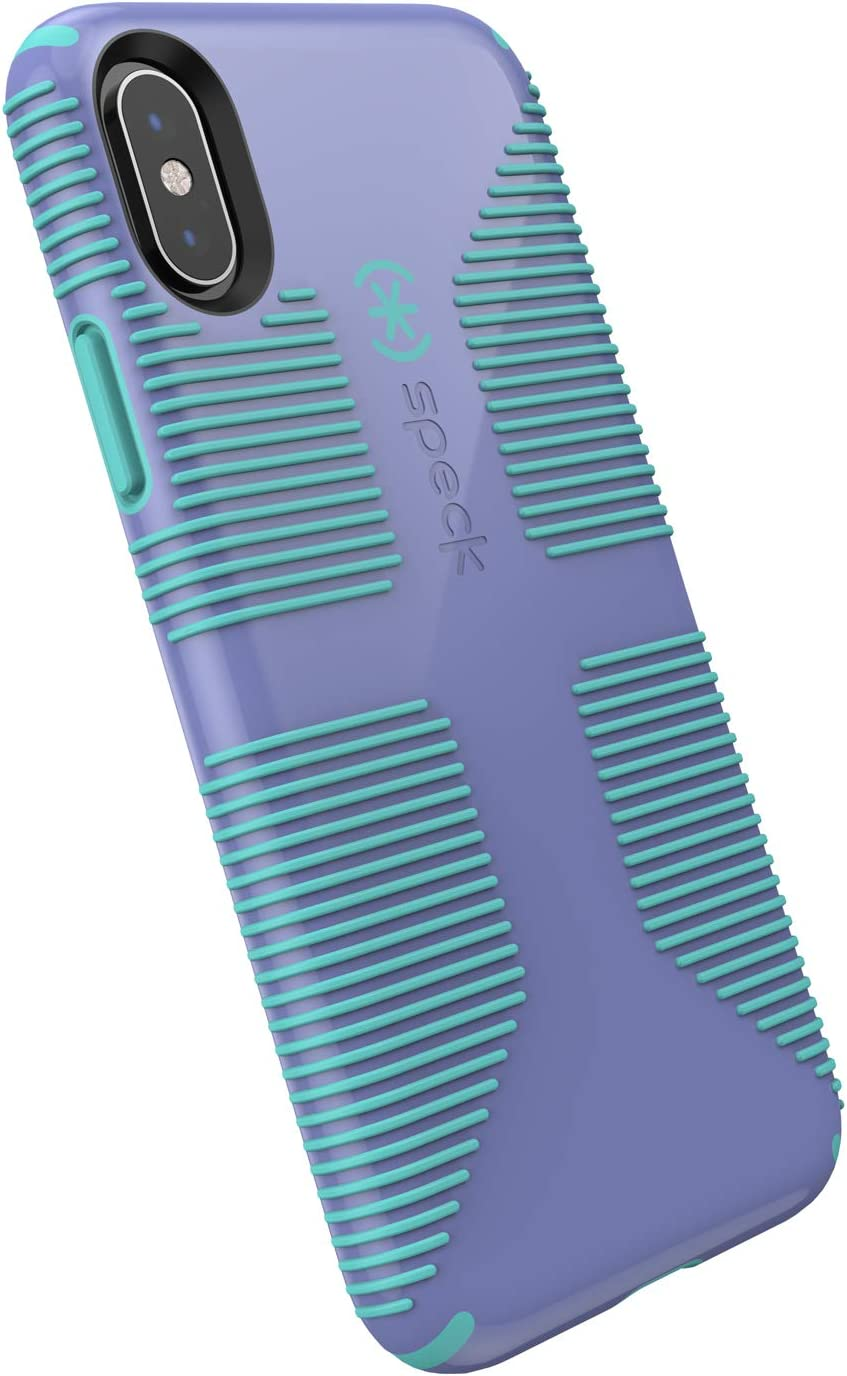 Speck Products CandyShell Grip iPhone XR Case, Wysteria Purple/Mykonos Blue