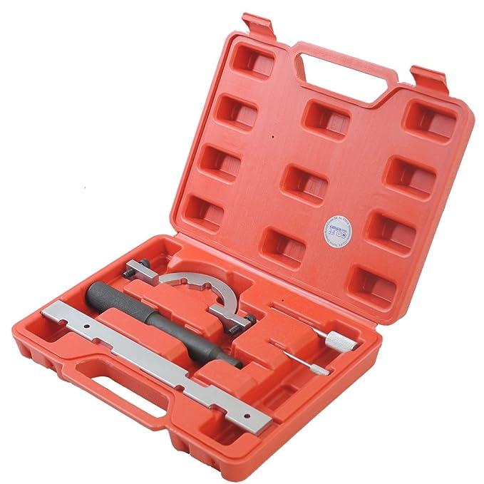 CCLIFE Set de herramientas de Bloqueo Cadena distribución Herramienta Bloqueo Levas Regla Astra Corsa Agila 1.0 1.2 1.4
