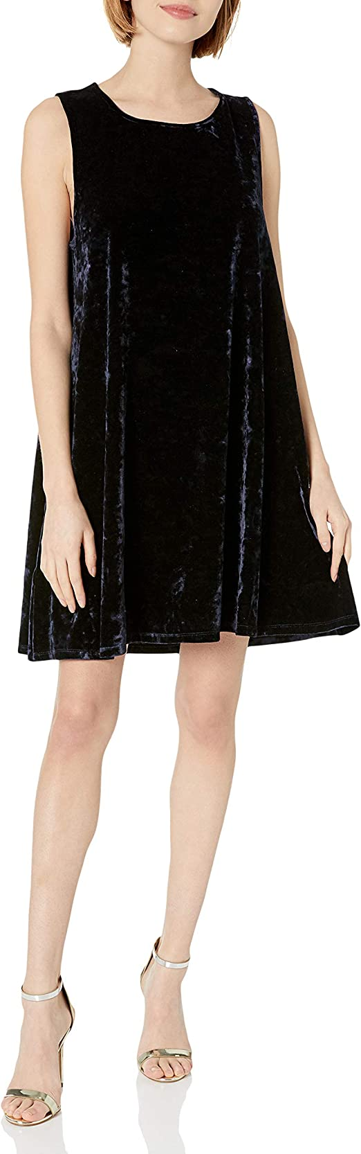 BB Dakota Womens Meyer Crushed Velvet Shift Dress