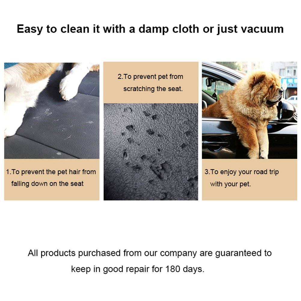 URPOWER Pet Front Seat Cover for Cars Nonslip Rubber Backing with Anchors, Quilted, Padded, Durable Pet Seat Covers for Cars, Trucks & SUVs