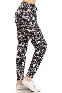 7ef7b3b3cbc468 Leggings Depot Premium Jogger Women's Popular Print High Waist Track Pants (S-XL)