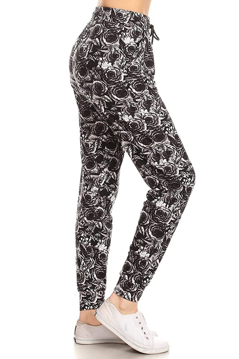 c532590282558c Leggings Depot Premium Jogger Women's Popular Print High Waist Track Pants(S-XL)  at Amazon Women's Clothing store: