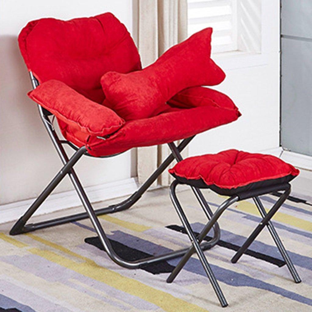 QRFDIAN Im Freien Klappstuhl Licht Recliner zufällige Schauspieler Stuhl Mazar Strand Angeln Stuhl Skizze Stuhl tragbaren Stuhl (Farbe : ROT)