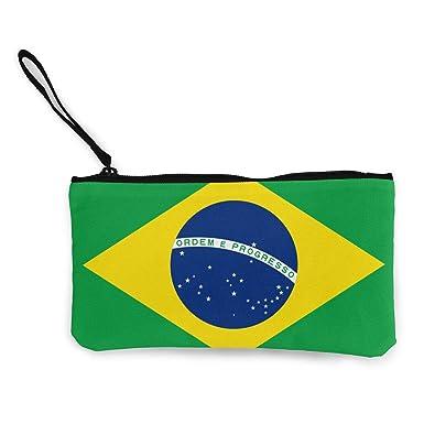 Amazon.com: Cartera de la bandera de Brasil, monedero de ...