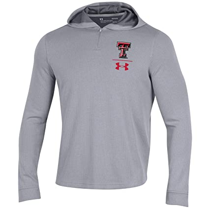 Under Armour Texas Tech Red Raiders Gray 1 4 Zip Sideline Hoodie Pullover (M db1cf77b3f26
